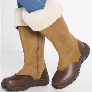 UGG Miko Boots Leather Wool Rain Snow Tall $295